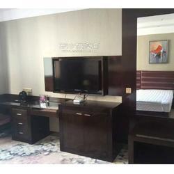 星级酒店家具定做,电视柜,电视背景,行李柜,全身镜,定制酒店客房衣柜,客房床,床头及床头背景图片