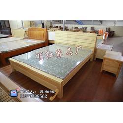 实木双人床、旺年家具(在线咨询)、上海实木床图片