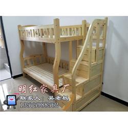 新中式实木学生床定做-云南新中式实木学生床-旺年家具品质保证图片