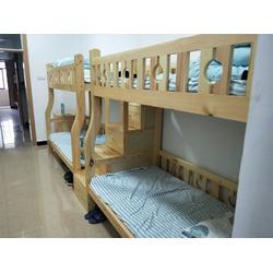 江苏实木床、明红家具来样定做、实木床厂家图片