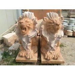 石雕狮子仿古_铭祥石雕(在线咨询)_黄石石雕狮子图片