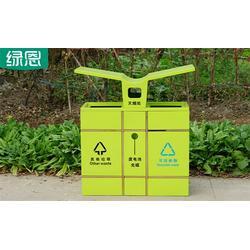 益阳垃圾桶_绿恩环保_景区特色果皮箱图片