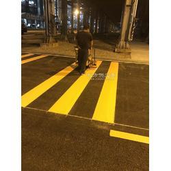 福田小区道路划线安装 专业马路划斑马线 交通道路车道划线图片