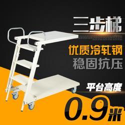 旺扬LT-1热销折叠登高车 弹簧移动平台梯 双层移动登高车图片