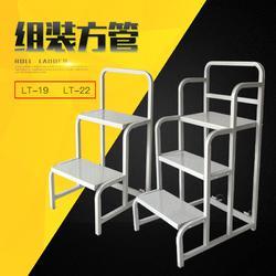 旺扬LT-19超市仓库小型方管组装二步梯带轮子上货梯图片