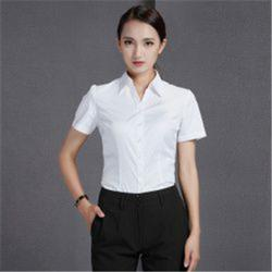 白色衬衫工作服厂家在哪里 _惠州白色衬衫工作服_虎森服饰图片
