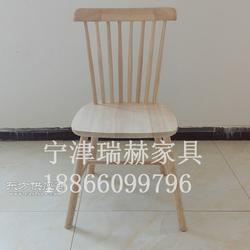 实木椅子餐椅白茬/咖啡厅酒吧餐椅/椅子白坯实木定做图片