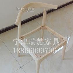 实木椅子原木白茬椅子/奶茶甜品店桌椅组合/白坯白茬餐椅厂家图片