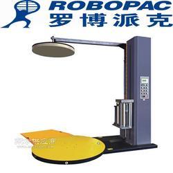 提供ROBOPAC自动预拉伸缠绕机 转盘式缠绕膜包装机厂家图片