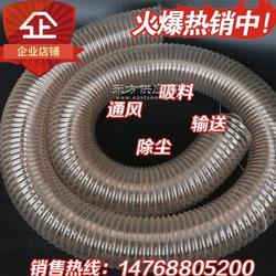 鼓风机专用pu耐磨钢丝伸缩吸尘除尘软管图片