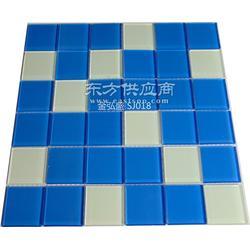 蓝色水晶马赛克游泳池砖图片
