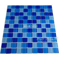 水晶马赛克装饰公司游泳池瓷砖铺贴工程瓷砖图片