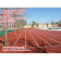 德州塑胶跑道,奥兴塑胶铺装,13mm透气型塑胶跑道造价图片