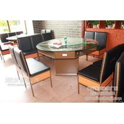 天顺餐厅家具 带抽屉圆形餐桌定制 多功能铁桌厂家 铁制桌椅图片