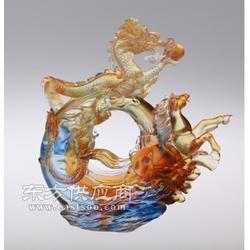 供应龙马精神摆件 古法琉璃工艺品 金融房地产礼品定制送大客户图片