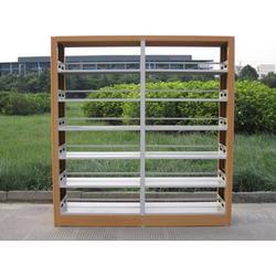 重庆钢制书架,越航办公家具厂,钢制书架学校图书馆图片