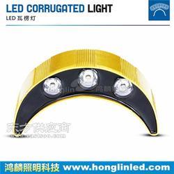 双面发光LED瓦楞灯大量销售图片