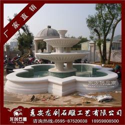 花岗岩喷泉水钵 白麻水钵 户外白石喷水池图片