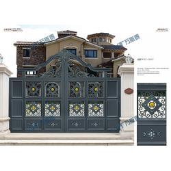 丰都庭院大门,万斯泰铝艺别墅建材,铸铝庭院大门厂家图片