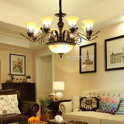 华高域 美式铁艺吊灯、新中式吊灯、欧式吸顶灯图片