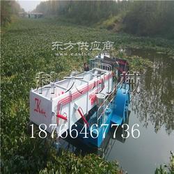 适合小河道水草打捞船 现代水葫芦草粉碎打捞船图片