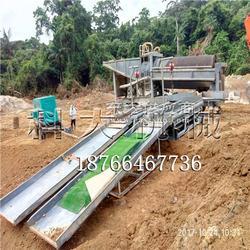 移动式沙金选取设备 溜槽移动陆地淘金机械图片