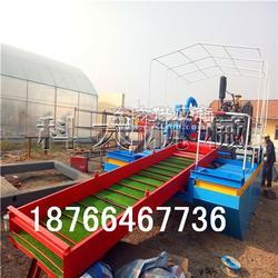 中小型河道淘金船 河道淘金选矿机械 峡谷河道淘金设备图片