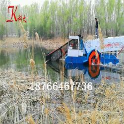 漂浮水草切断打捞船 明轮推动水草打捞机械图片