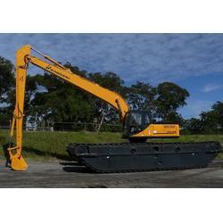 水陆两用挖机出租服务|水陆两用挖机出租|新盛发水上挖掘机公司图片
