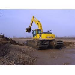 水陆两用挖机租赁公司_新盛发水上挖掘机_水陆两用挖机租赁图片