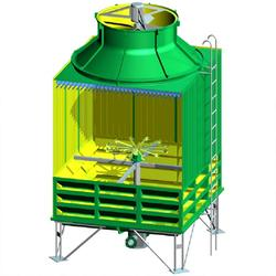 200t玻璃钢冷却塔、华强科技(在线咨询)、环翠玻璃钢冷却塔图片