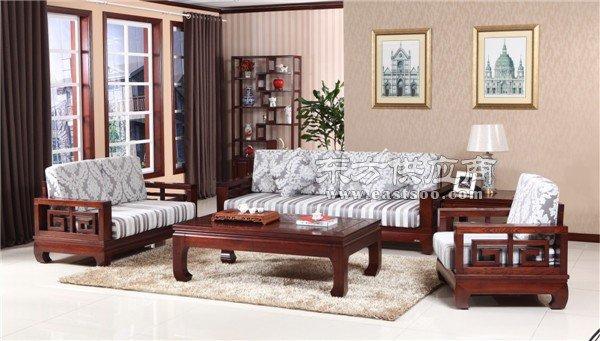 木言木语明清中式实木608沙发,专注黄菠萝四十年老厂手工打造图片