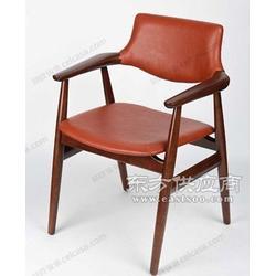 现代简纸时尚椅子原木设计风格椅子皮革坐垫原木椅子时欧供图片