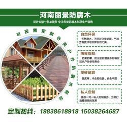 新野防腐木木屋-丽景根据客户需求定制-南阳防腐木木屋定做图片