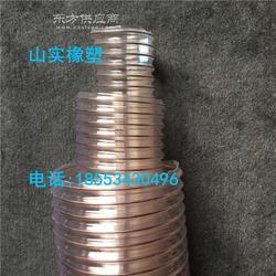 PU塑料风管工业吸尘集尘钢丝螺旋管自由伸缩波纹管图片