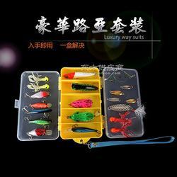 鱼饵套盒 波扒 雷蛙 超级亮片 24件套 13格双层路亚套盒图片
