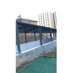 车棚,南京禹鑫公司,单边体铝合金车棚图片
