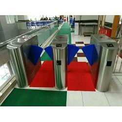 白色烤漆桥式翼闸餐厅景区票务系统二维码检票翼闸图片