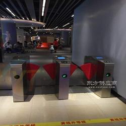 游乐场入口检票桥式蝶形翼闸,工地进出刷卡翼闸图片