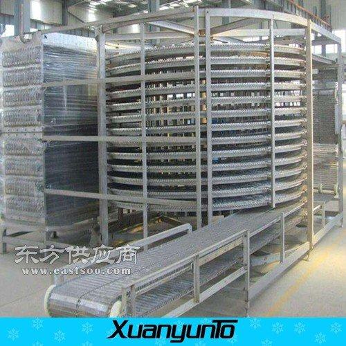 螺旋式包子速冻隧道小型面食速冻机厂家图片