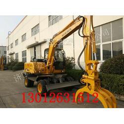 轮式挖掘机装甘蔗的挖机 沃尔华DLS880甘蔗装卸图片