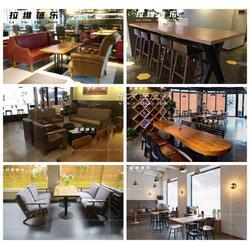 咖啡厅沙发咖啡厅实木桌椅定做厂家图片