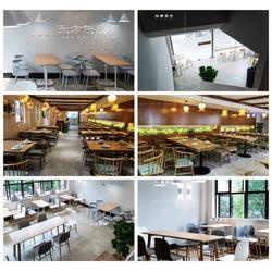 甜品店中餐厅西餐厅现代简约实木桌椅定做厂家图片