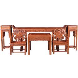 非洲花梨木餐桌多少钱,非洲花梨木餐桌,福隆堂【共筑精彩】图片