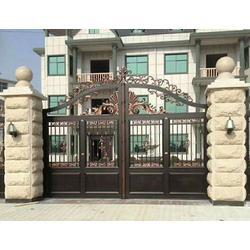 玉溪铸铝门-鸿洛均铸铝门-庭院铸铝门多少钱图片