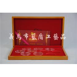 红酒礼盒双支油漆木盒_浙江油漆木盒_蓝盾专业定制包装盒图片