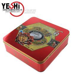 马口铁方形月饼铁盒 金属月饼铁盒包装 马口铁方形月饼礼品铁盒图片