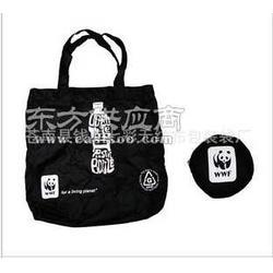 供应黑色卡通涤纶环保袋图片