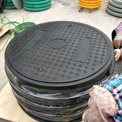 车道承重井盖  中石化SMC井盖 DN900双层防水井盖图片