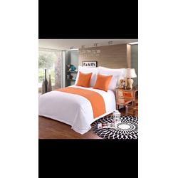酒店布草 宾馆酒店客房床上用品纯棉被套四件套全棉图片